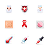 Medical and healthcare icons royalty free illustration