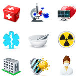 Medical and healthcare icons | Bella series. Medical and healt care icons | Bella series| Bella series, part 2 Stock Photos