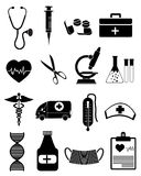 Medical and healthcare icons Royalty Free Stock Photos