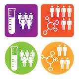 Medical Healthcare Icons with People Stock Photo