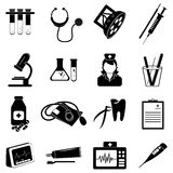 Medical healthcare icons set Stock Photo