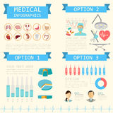 Medical and healthcare infographic, elements for creating infographics. royalty free illustration