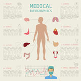 Medical and healthcare infographic, elements for creating infographics. stock illustration
