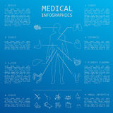 Medical and healthcare infographic, elements for creating infogr Stock Photos