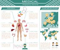 Medical and healthcare infographic, elements for creating infogr Stock Photography