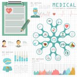 Medical and healthcare infographic, elements for creating infogr Royalty Free Stock Photography