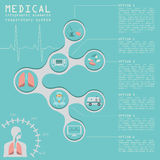 Medical and healthcare infographic, respiratory system infograph Royalty Free Stock Photography