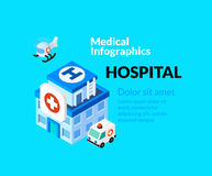 Medical healthcare infographic set with isometric Royalty Free Stock Image
