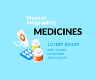 Medical healthcare infographic set with isometric Stock Image