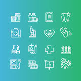 Medical and Healthcare Research  Items, Insurance, MRI, Scan, Check-Up Forms, Blood Testing Royalty Free Stock Images