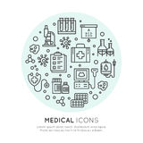 Medical and Healthcare Research  Items Royalty Free Stock Image