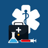 Medical healthcare service. Icon vector illustration graphic design Royalty Free Stock Photo