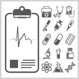 Medical And Healthcare Sign Symbol Icon Set Stock Photos