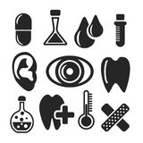 Medical and healthcare web and mobile icons. Vector. Stock Image