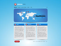 Medical healthcare website template Royalty Free Stock Photo
