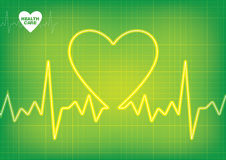 Medical Heart Beat Design Stock Image
