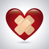 Medical heart design Stock Images