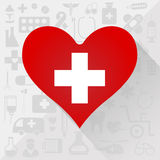 Medical Heart Icon Stock Photo