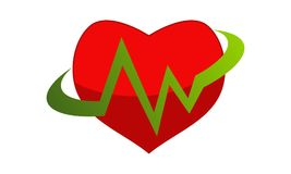 Medical Heart Logo Design Template Stock Images