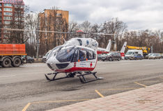 Medical helicopter. Royalty Free Stock Images