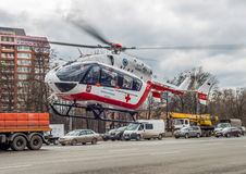 Medical helicopter. stock photos