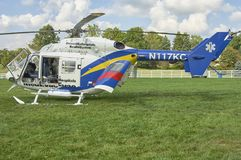 Medical helicopter on display to public Royalty Free Stock Images
