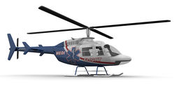 Medical Helicopter Side Royalty Free Stock Images
