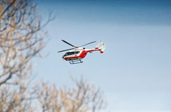 Medical helicopter royalty free stock image
