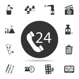 Medical help 24 hours icon. Detailed set of medicine element Illustration. Premium quality graphic design. One of the collection i. Cons for websites, web design Stock Photography