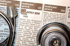 Medical Help Wanted Stock Image
