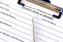 Medical history Royalty Free Stock Images