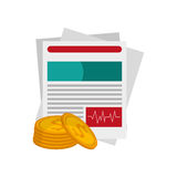 Medical history and money coin  icon Royalty Free Stock Photos