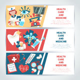 Medical horizontal banners Royalty Free Stock Photography