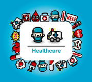 Medical and Hospital card Royalty Free Stock Photos