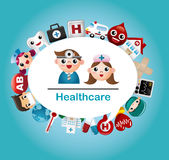 Medical and Hospital card. Vector,illustration Royalty Free Stock Photos