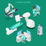 Medical hospital computer diagnostic Flat 3d web s Royalty Free Stock Photos