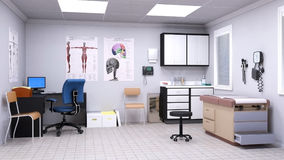 Medical Hospital Doctor Examination Room. Illustration of a doctor office or examination room in a hospital. Nice medical healthcare background Royalty Free Stock Images