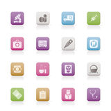 Medical, hospital and health care icons Stock Photo