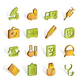 Medical, hospital and health care icons Stock Image