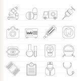 Medical, hospital and health care icons Royalty Free Stock Photography