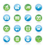 Medical, hospital and health care icons Royalty Free Stock Image