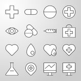 Medical, Hospital, Health thin line  icon Stock Image