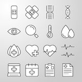 Medical, Hospital, Health thin line vector icon Royalty Free Stock Photography