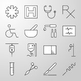 Medical, Hospital, Health thin line vector icon Royalty Free Stock Photos