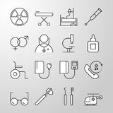 Medical, Hospital, Health thin line vector icon Royalty Free Stock Photo