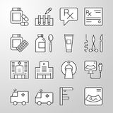Medical, Hospital, Health thin line vector icon Stock Photography
