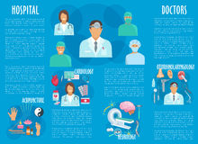 Medical or hospital healthcare vector infographics Royalty Free Stock Photography