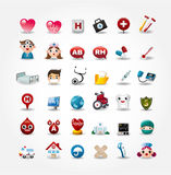 Medical and Hospital icons collection. Drawing Royalty Free Stock Image