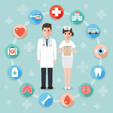 Medical and hospital icons Royalty Free Stock Photography