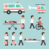 Medical and hospital icons Royalty Free Stock Photo
